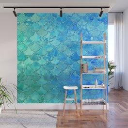 Summer Dream Colorful Trendy Mermaid Scales Wall Mural