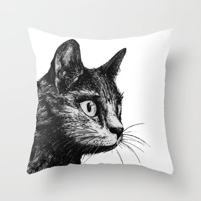gato Throw Pillow