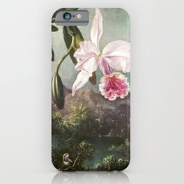 Orchid Blossoms (1873) by Martin Johnson Heade iPhone Case