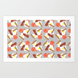 A Very English Fry Up Repeating Pattern Art Print