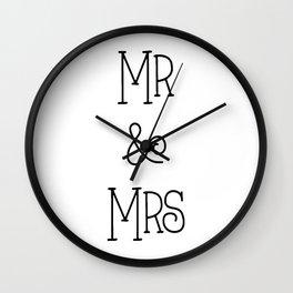 Mr &Mrs Wall Clock