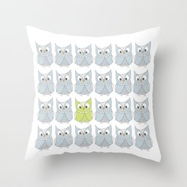 Owl be different Throw Pillow