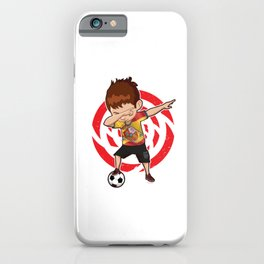 Football Dab Spain Spaniards Spanish Footballer Dabbing Rugby Goal Soccer Gift iPhone Case