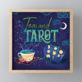 Kelly-Ann Maddox Collection :: Tea and Tarot (Illustrated) Framed Mini Art Print