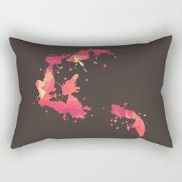 Goldfish Swimming Rectangular Pillow