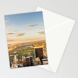 Central park at sunset - aerial view Stationery Cards