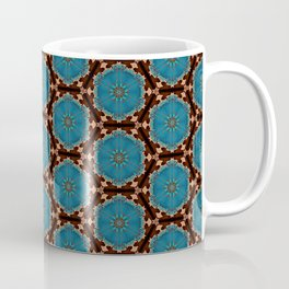 Brown Blue Azalea 1 Coffee Mug