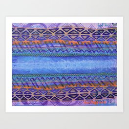 Blue Conduit Horizontal Art Print
