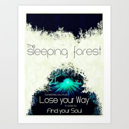 Final Fantasy VII - Sleeping Forest Tourism Tee Art Print