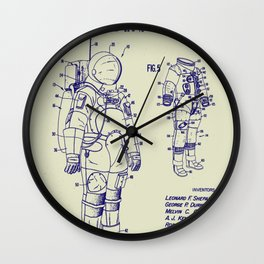 1973 NASA Apollo Astronaut Space Suit Patent Wall Clock
