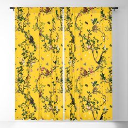 Monkey World Yellow Blackout Curtain