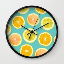 Lemon Citrus Melody Print Wall Clock