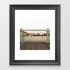 BY THE DOCK OF THE BAY Framed Art Print