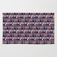 evil Area & Throw Rugs featuring Evil kokeshis by Pendientera