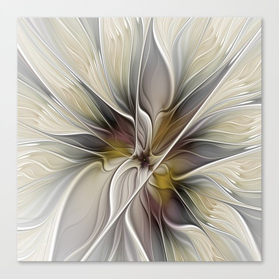 Floral Abstract, Fractal Art Canvas Print