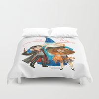 harry potter Duvet Covers featuring Harry Potter Hug by Super Group Hugs