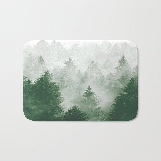 Foggy Woods III Bath Mat
