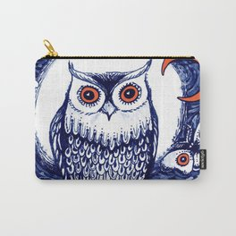 Little owl with moon kids room owl illustration Carry-All Pouch
