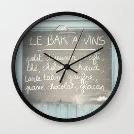 Le Bar a Vins - France Wall Clock