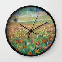 dancing Wall Clocks featuring Dancing by Michael Creese