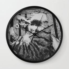 An Italian Cat Wall Clock