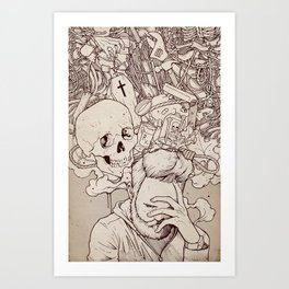 Self Destructive Personality Art Print
