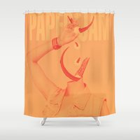 derek hale Shower Curtains featuring Paper Jam '15 II by Taylor Hale by UCO Design