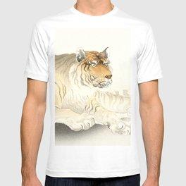 Resting Tiger - Vintage Japanese woodblock print Art T-shirt