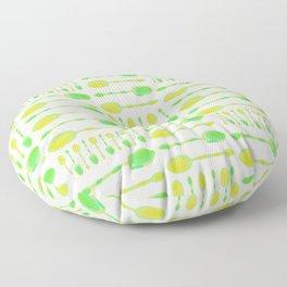 Unique Artsy Spoons! (Light Green) Floor Pillow