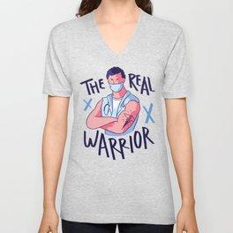 The Real Warrior Doctor Medicine Unisex V-Neck