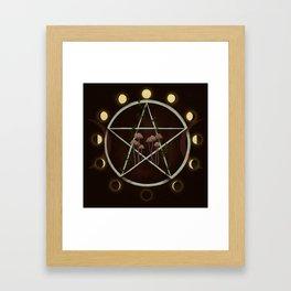 Wiccan magic circle Framed Art Print