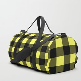 Plaid (Black & Yellow Pattern) Duffle Bag