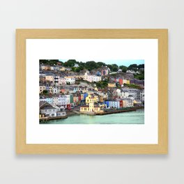 Colorful Cobh Ireland Framed Art Print