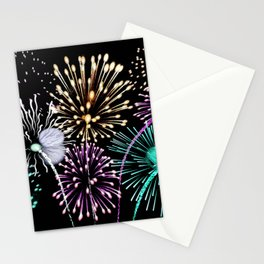 Bright firework texture Stationery Cards