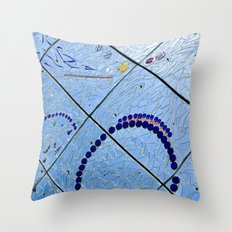 A Squiggle and A Square Throw Pillow
