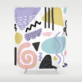 Muted Memphis Shower Curtain
