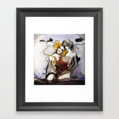 Letter 3: equally centered Framed Art Print