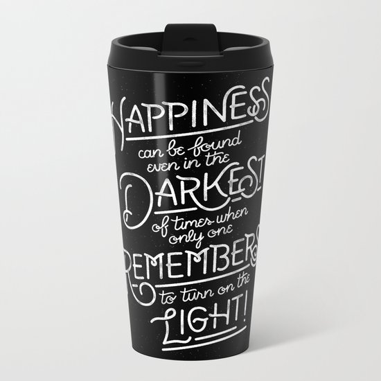 Happiness can be found Metal Travel Mug