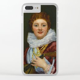 Mary Cassatt 1844 - 1926 YOUNG WOMAN WEARING A RUFF Clear iPhone Case