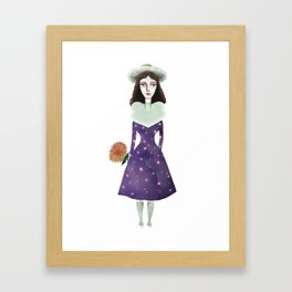 Universe in Lady Framed Art Print