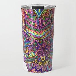 Elephant Mandala safari pattern Travel Mug