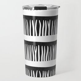 Abstract Blades of Grass in Black and White Travel Mug