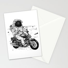 Moon Biker Stationery Cards