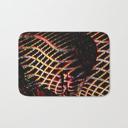 5502s-MAK Space Time Vulva Abstract Art Rendered in Acrylic by Chris Maher Bath Mat