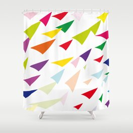 colored arrows Shower Curtain