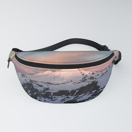 Mount Baker Mountain Adventure Sunset - Nature Photography Fanny Pack