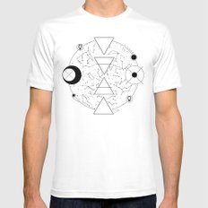 Celestial Alchemical Earth Mens Fitted Tee White MEDIUM