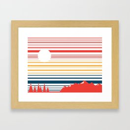 Mountain Stripes Framed Art Print