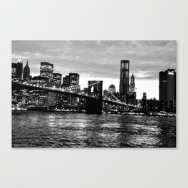 New York at night Canvas Print