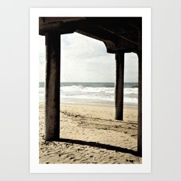 Pier Seascape Art Print